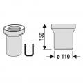 WC připojení přímé 15 cm
