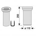 WC připojení přímé 25 cm