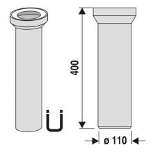 WC připojení přímé 40 cm