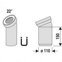 WC koleno 100/22°