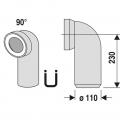 WC připojovací koleno 100/90°
