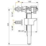 Napouštěcí ventil boční